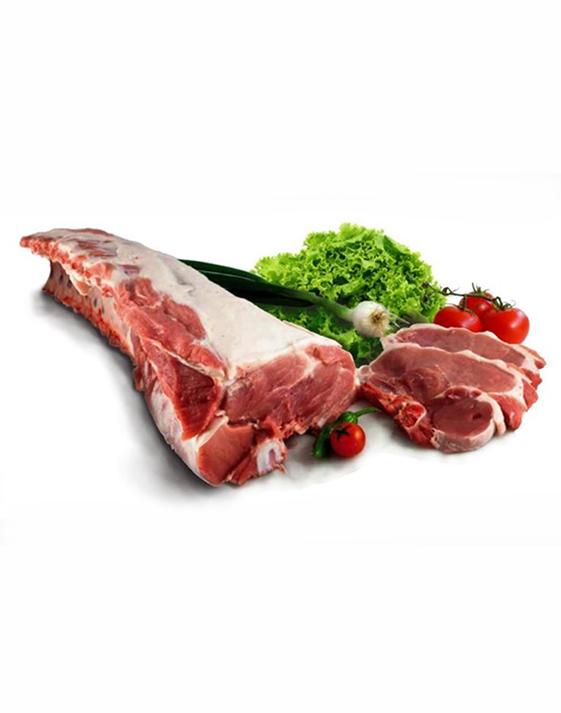 Pacco di carne di suino di razza Cinta senese